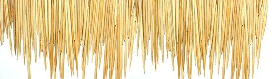 Toothpicks bamboo background Stock Image