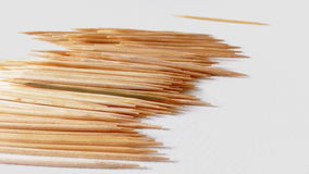 3 - Toothpicks. Toothpicks in bottle on white background Stock Image