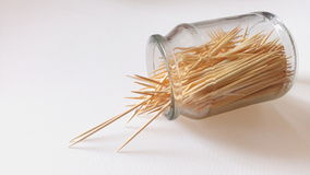 8 - Toothpicks. Toothpicks in bottle on white background Stock Images