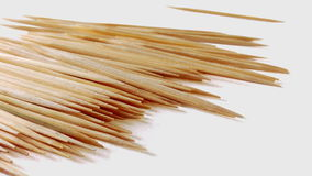 9 - Toothpicks. Toothpicks in bottle on white background Stock Photography