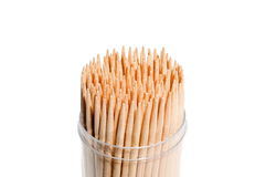 Toothpicks in box Royalty Free Stock Photo