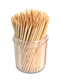 Toothpicks in a box Royalty Free Stock Photography