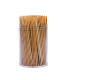 Toothpicks in a box Stock Images