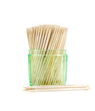 Toothpicks close up texture. Royalty Free Stock Photography
