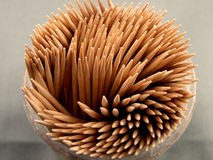 Toothpicks. A close up on tooth picks Royalty Free Stock Photography