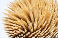 Toothpicks. Closed up of sharp toothpicks Royalty Free Stock Photos