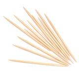 Toothpicks, cocktail sticks. Wood. Stock Images