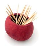 Toothpicks, cocktail sticks. Wood. Royalty Free Stock Photos