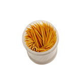Toothpicks in container Royalty Free Stock Images