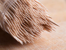 Toothpicks in a container Stock Images