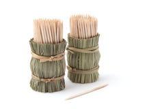Toothpicks de bambú fotografía de archivo libre de regalías