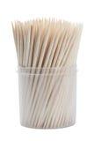 Toothpicks de madera aislados imagen de archivo libre de regalías
