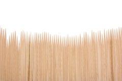 toothpicks della priorità bassa di legno fotografie stock