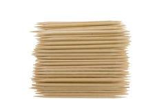 Toothpicks di bambù Fotografia Stock