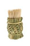 Toothpicks di bambù Immagine Stock