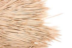 Toothpicks di legno fotografia stock