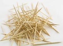 Toothpicks di legno Fotografia Stock Libera da Diritti