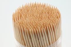 Toothpicks en el fondo blanco Fotografía de archivo libre de regalías