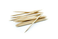 Toothpicks. Group of toothpicks isolated on white background Royalty Free Stock Photo