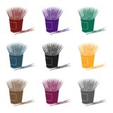Toothpicks icon in black style isolated on white background. Dental care symbol stock vector illustration. Stock Images
