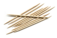 Toothpicks Isolated Top View Royalty Free Stock Image