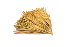 Toothpicks isolated on white Royalty Free Stock Image