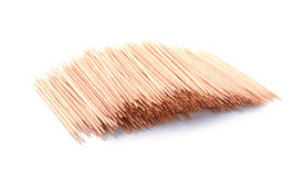 Toothpicks isolated on white Stock Photo