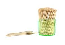 Toothpicks isolated on white Royalty Free Stock Image