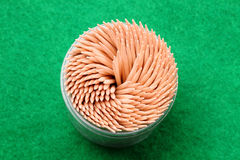 Toothpicks a la tapa imagen de archivo