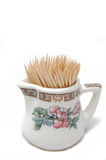 Toothpicks in little jar Royalty Free Stock Images