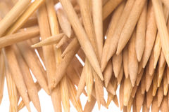 Toothpicks Macro Isolated Royalty Free Stock Image