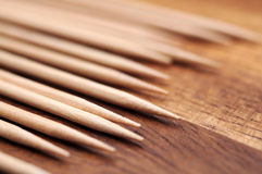 Toothpicks macro Royalty Free Stock Photo