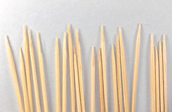Toothpicks on paper Stock Images