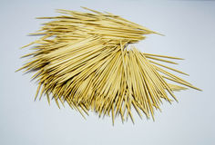 A pile of toothpicks. Royalty Free Stock Photography