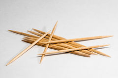 Toothpicks in a pile Royalty Free Stock Images