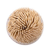 Toothpicks in a round box Stock Photos