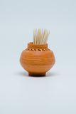 Toothpicks in small pottery. Small stick of bamboo in the small pottery handcraft Royalty Free Stock Image