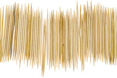 Toothpicks on white background Royalty Free Stock Image