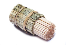 Toothpicks. Wrap in bambbo grass Royalty Free Stock Image