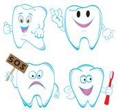 Tooths. Set. Illustration for you design Stock Images