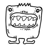 Toothy fel Arkivbild