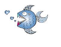 Toothy fisk Arkivbilder