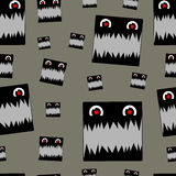 Toothy  monster seamless Royalty Free Stock Images