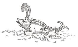 Free Toothy Sea Monster Royalty Free Stock Photography - 102494777