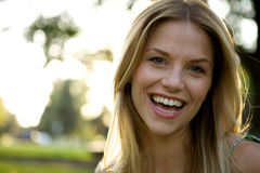 Toothy Smile Blonde Girl Royalty Free Stock Image