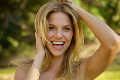 Toothy Smile Blonde Girl Royalty Free Stock Photography