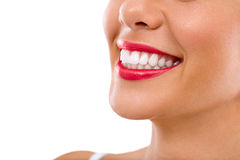 Toothy smile. Great toothy smile isolated over white background Royalty Free Stock Photo