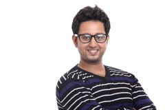 Toothy smiling Indian young man portrait Royalty Free Stock Photography