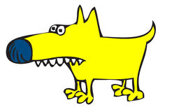 Toothy yellow dog royalty free stock photos