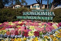 Toowoomba trädgårdstadsblommorna Fotografering för Bildbyråer